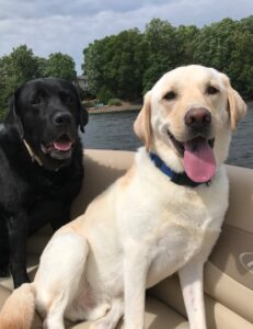 Jake and London enjoying a day on the Lake