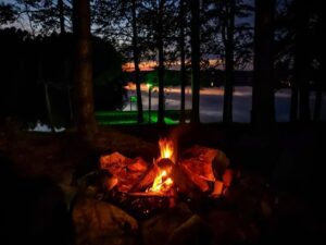 Colby Beaumont - Camp fire at Hyco Lake