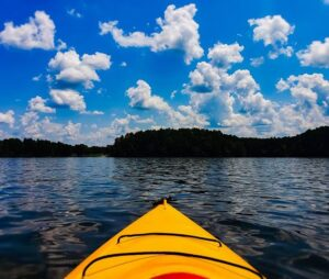 Colby Beaumont  - Kayaking on Hyco Lake