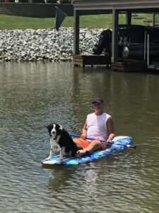 It's a ruff day on the lake!