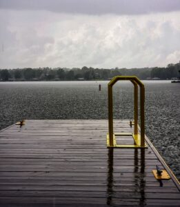 Showers on the lake