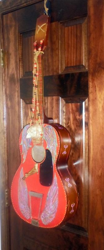 Birdhouse Guitar by Sue Brooks