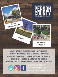 Person County Tourism vol 4 2020