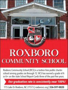 Roxboro Comm School vol 4 2020 ad proof